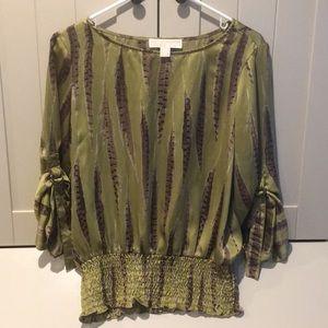 Michael by Michael Kors Blouse with buckle sleaves
